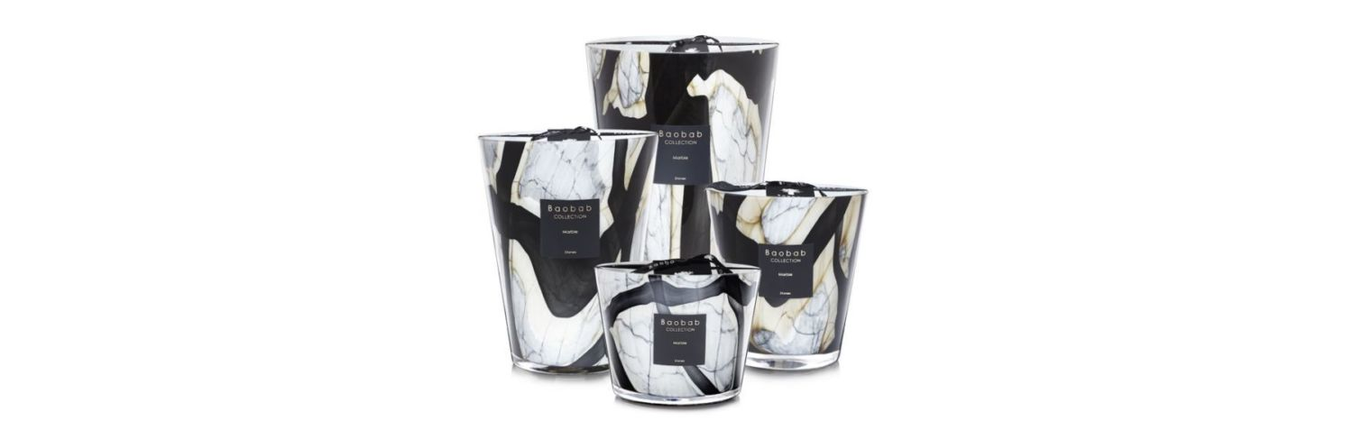 Stone Marble Candle Collection